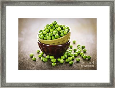Bowl Of Peas Framed Print by Elena Elisseeva