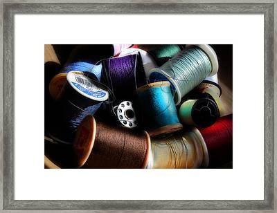 Bowl Of Thread Framed Print by Michael Eingle