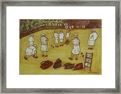Bowling, 1988 Watercolour On Paper Framed Print by Gillian Lawson