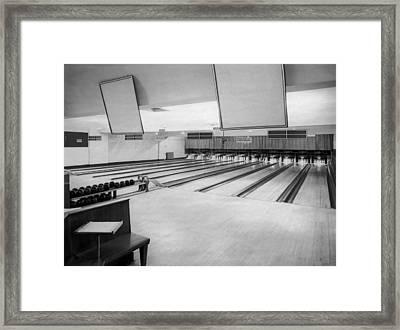Bowling Alley Interior Framed Print