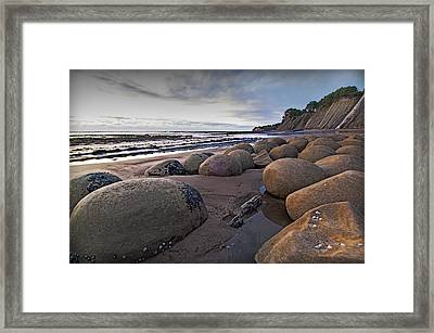 Bowling Ball Beach 3 Framed Print by Ron Schwager