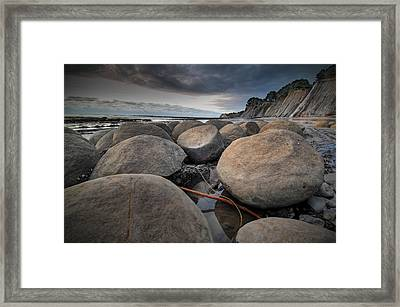 Bowling Ball Beach 4 Framed Print by Ron Schwager