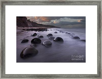Bowling Ball Beach At Sunrise Framed Print by Keith Kapple