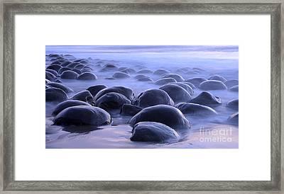 Bowling Ball Beach California Framed Print