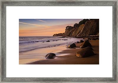 Bowling Ball Beach Sunset Framed Print