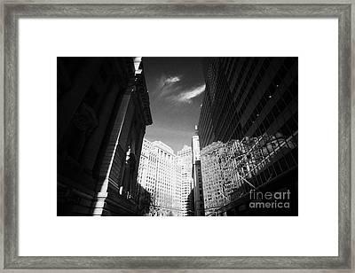 Bowling Green Broadway Financial Wall Street Area District Canyon New York City Framed Print by Joe Fox