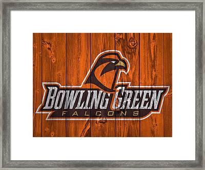Bowling Green Falcons Barn Door Framed Print