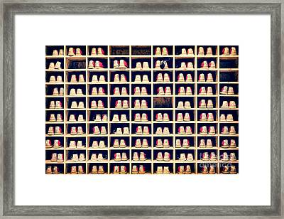 Bowling Shoes Framed Print