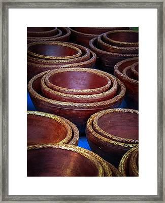 Bowls Framed Print by Connie Anderson