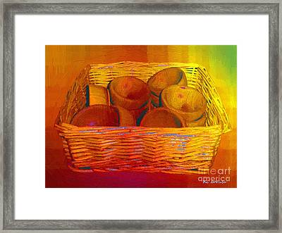 Bowls In Basket Moderne Framed Print