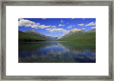 Bowman Lake Montana Framed Print by Kathleen Scanlan