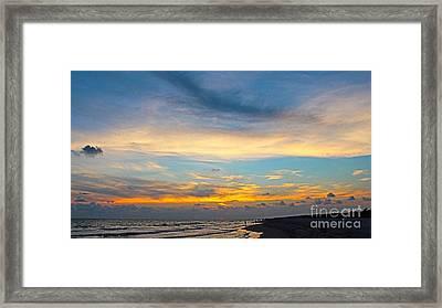 Bowman's Beach Sunset Framed Print