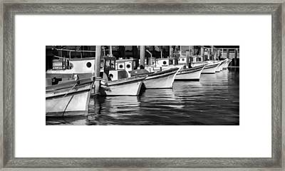 Bows Out Black And White Framed Print