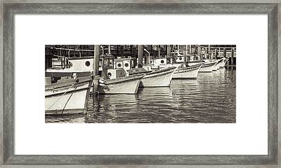 Bows Out Sepia Framed Print