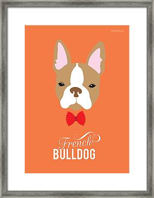 Bowtie Dogs Framed Print by Popiko Shop
