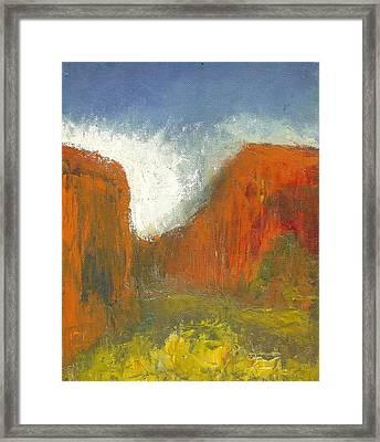 Box Canyon Framed Print