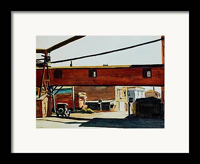 Wooden Building Paintings Framed Prints