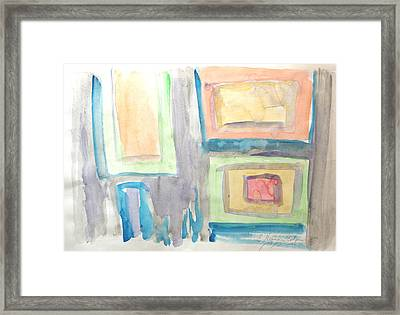 Framed Print featuring the painting Box In Box by Esther Newman-Cohen