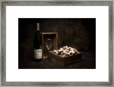Box Of Wine Corks Still Life Framed Print