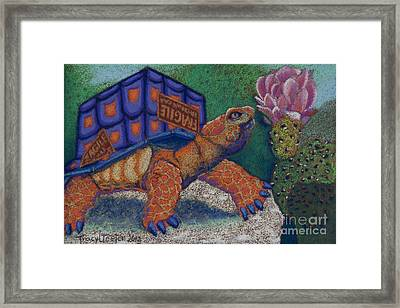 Box Turtle Framed Print by Tracy L Teeter