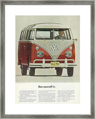 Box Yourself In Framed Print
