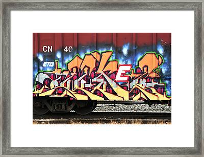 Boxcar Art Framed Print