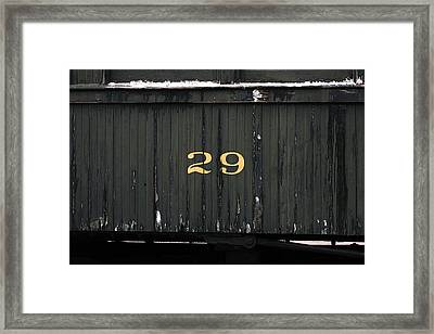Boxcar Number 29 Framed Print