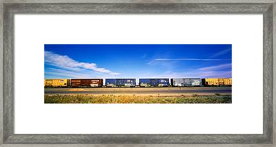 Boxcars Railroad Ca Framed Print by Panoramic Images