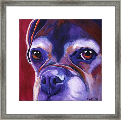 Boxer - Wallace Framed Print by Alicia VanNoy Call