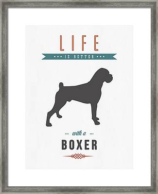 Boxer 01 Framed Print by Aged Pixel