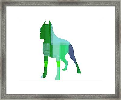 Boxer 1 Framed Print by Naxart Studio