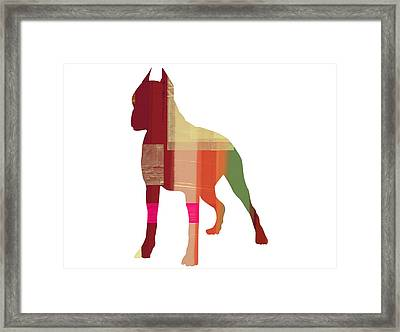 Boxer 2 Framed Print by Naxart Studio