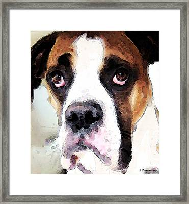 Boxer Art - Sad Eyes Framed Print