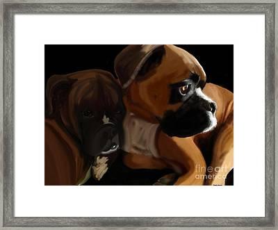 Boxer Brothers Framed Print by Christina Kulzer