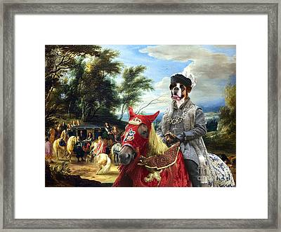 Boxer Dog Art - Philippe Francois Arenberg Meeting Troops Framed Print by Sandra Sij