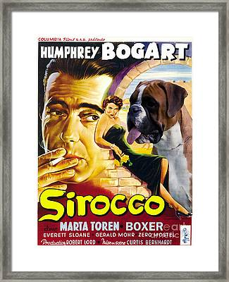 Boxer Dog Art Canvas Print - Sirocco Movie Poster Framed Print