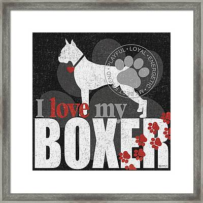 Boxer Framed Print by Kathy Middlebrook