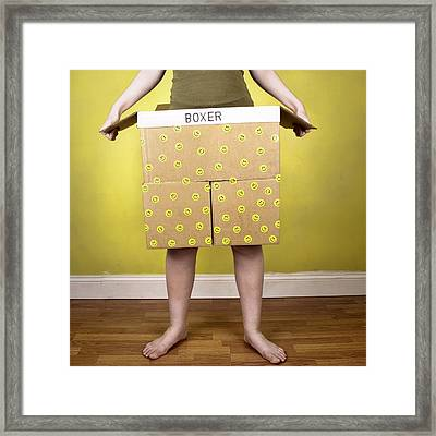 Boxer Shorts? Framed Print by Chrystyne Novack