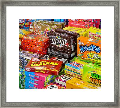 Boxes Of Candy Framed Print