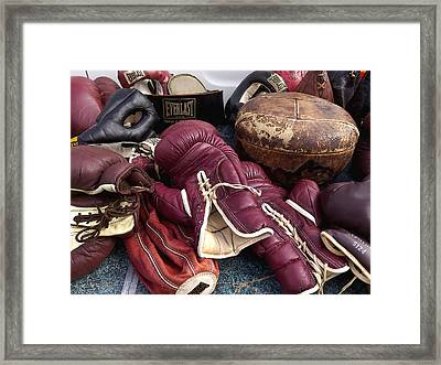 Boxing Framed Print by Art Block Collections