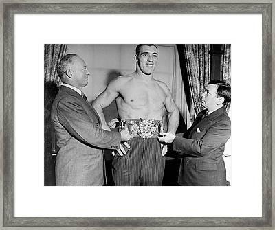 Boxing Champion Primo Carnera Framed Print