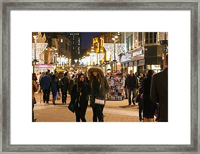 Framed Print featuring the photograph Boxing Day Sales by Paul Indigo