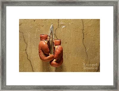 Boxing Gloves Framed Print by Bernard Jaubert