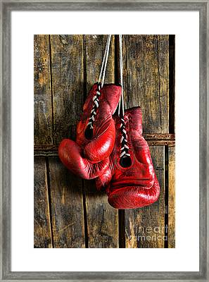 Boxing Gloves - Now Retired Framed Print by Paul Ward