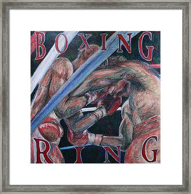 Boxing Ring Framed Print by Kate Fortin