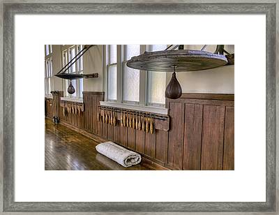 Boxing Speed Bags At The Fordyce Bathhouse Gymnasium - Hot Springs - Arkansas Framed Print by Jason Politte