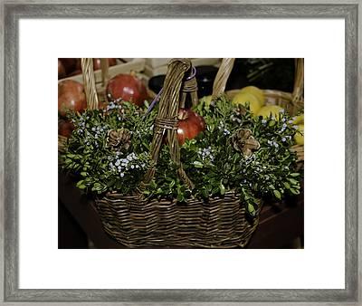 Boxwood Basket Framed Print