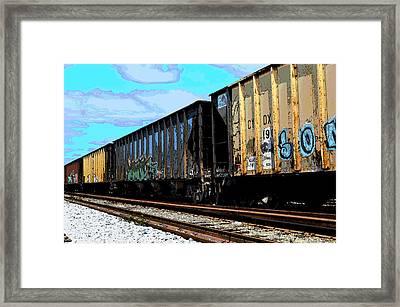 Boxxcars Framed Print