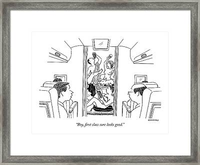 Boy, First Class Sure Looks Good Framed Print by Alex Gregory