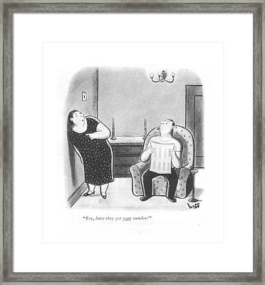 Boy, Have They Got Your Number! Framed Print by Sydney Hoff